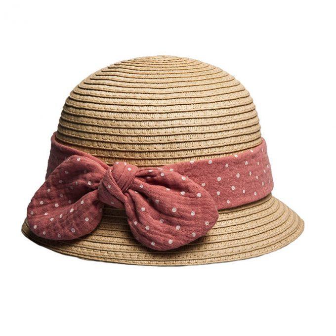 παιδικό ψάθινο καπέλο για κορίτσι